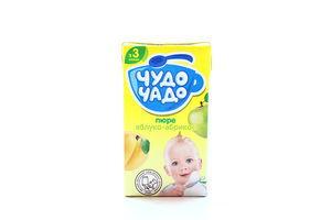 Пюре для детей от 3мес Яблоко-Абрикос Чудо-Чадо т/п 130г
