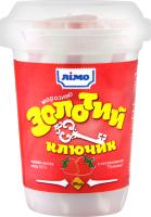 Мороженое 10% с наполнителем Клубника Золотой ключик Лімо ст 100г