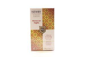 Чай Newby Мароканські ночі зелений байховий 25пак. 50г х12