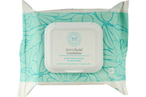 The Honest Co. 3-in-1 Facial Towelettes - 30CT