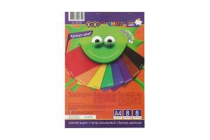 Папір кольоровий ZiBi А4 8кол