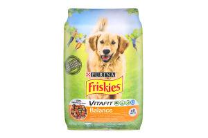 Корм сухий для собак з куркою та овочами Balance Friskies м/у 10кг