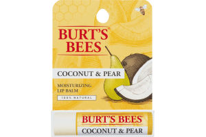 Burt's Bees 100% Natural Moisturizing Lip Balm, Coconut & Pear, 1 Tube in Blister Box