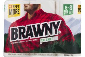 Brawny Paper Towels Full Sheet - 6 CT