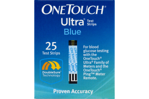 OneTouch Ultra Blue Test Strips - 25 CT