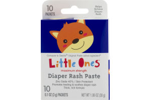 Little Ones Maximum Strength Diaper Rash Paste Packets - 10 CT