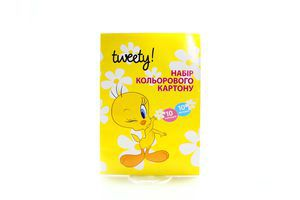 Картон Tweety цветной А4 10л Cool for School