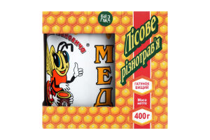 Мёд натуральный цветочный Лесное разнотравье від Миколи Івановича к/у 400г