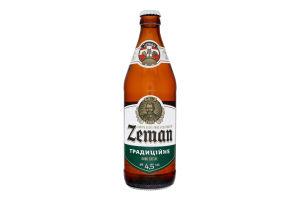 Пиво 0.5л 4.5% світле фільтроване пастеризоване Традиційне Zeman пл