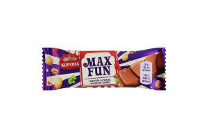 Шоколад молочный Взрывная карамель, мармелад, печенье Max Fun Корона м/у 38г