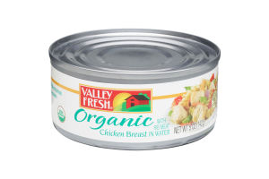 Valley Fresh Organic Canned Chicken Breast with Rib Meat in Water, 5 Ounce