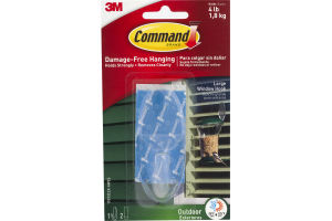 Command Damage-Free Hanging Outdoor Window Hook Clear