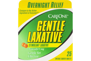 CareOne Gentle Laxative Tablets Overnight Relief - 25 CT