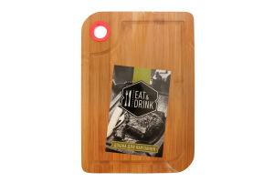 Доска разделочная Eat&Drink бамбук 38*28см