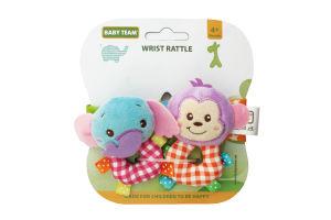 Игрушка-погремушка для детей от 4-х месяцев №8504 Wrist Rattle Baby Team 2шт
