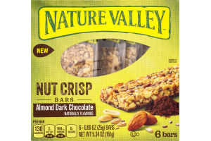 Nature Valley Nut Crisp Bars Almond Dark Chocolate - 6 CT