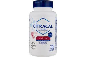 Citracal Calcium Supplement Maximum - 120 CT