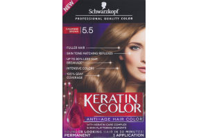 Schwarzkopf Keratin Color Permanent Anti-Age Hair Color 5.5 Cashmere Brown