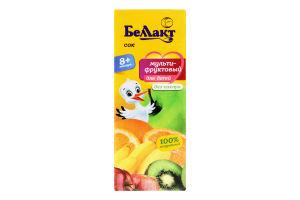 Сок для детей от 8мес Мультифруктовый Беллакт т/п 0.2л