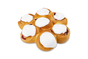 Пирог Крафтяр букет с кремом и вишней