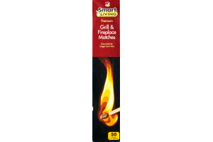 Smart Living Grill & Fireplace Matches - 50 CT