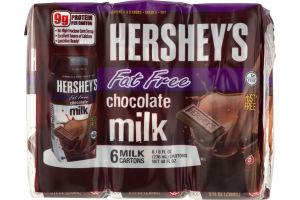 Hershey's Chocolate Milk Fat Free - 6 CT