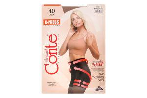 Колготки женские Conte X-press №8С-69СП 40den 5-XL natural