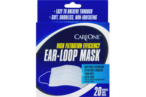 CareOne Latex Free Ear-Loop Surgical Grade Masks - 20 CT