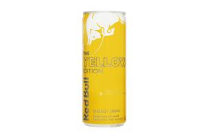 Напій енергетичний безалкогольний сильногазований Tropical The Yellow Edition Red Bull з/б 250мл