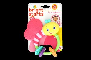 Развивающая игрушка погремушка Bright Starts Розовая бабочка