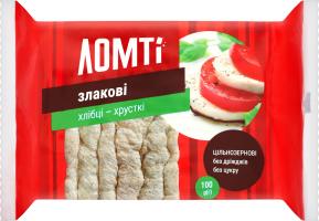 Хлібці злакові Ломті м/у 100г