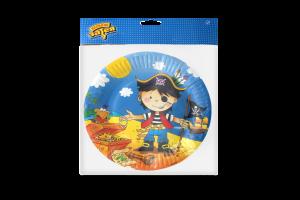 Тарелка бумажная №1502-1296 Маленький пират Веселая затея 17см 6шт