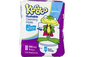 Kandoo Flushable Cleansing Wipes Sensitive - 200 CT
