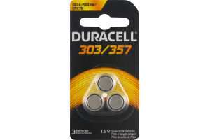 Duracell Batteries 303/357 1.5V - 3 CT