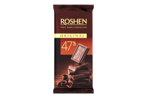 Шоколад 47% черный Original Roshen м/у 85г