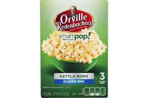 Orville Redenbacher's Smart Pop! Gourmet Popping Corn Kettle Korn Classic Bag - 3 CT