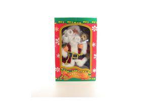Дід Мороз музичний Маг 2000 що ходить з подарунками і ведмедем 25см 230396