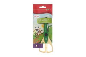 Ножницы с фигурными лезвиями зеленые №ZB.5020-04 Zibi 1шт