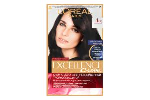 Краска для волос №400 Каштановый Crème Excellence L'Oreal
