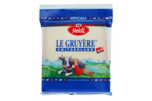Сир 51% Le Gruyere Heidi м/у 0.17кг