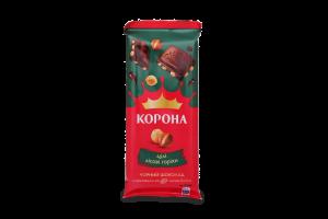 Шоколад Корона черный с целыми лесными орехами