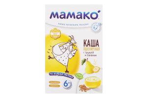 Каша пшеничная с грушей и бананом на козьем молоке для детей от 6мес Мамако к/у 200г