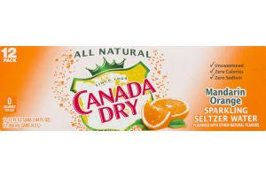 Canada Dry Sparkling Seltzer Water Mandarin Orange - 12 PK