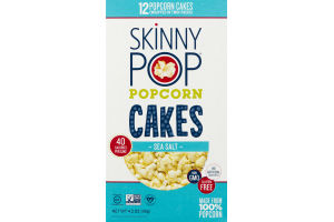 SkinnyPop Popcorn Cakes Sea Salt - 12 CT