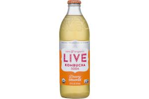 LIVE Raw and Organic Kombucha Soda Dreamy Orange