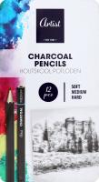 Набор карандашей угольных 12шт