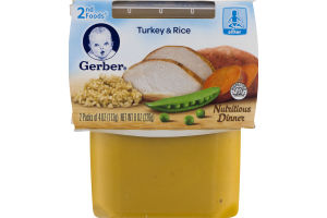 Gerber 2nd Foods Turkey & Rice - 2 CT