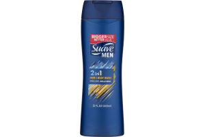 Suave Men Hair & Body Wash 2 In 1