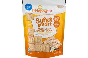 HappyTot Organics Super Smart Multi-Grain Alphabet Snacks