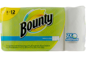 Bounty Select-A-Size Paper Towels Giant Rolls - 8 CT